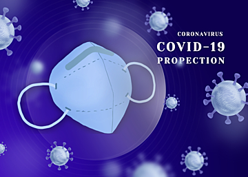 purple blue new crown virus protection mask background