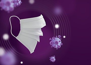 purple mask new crown virus protection background