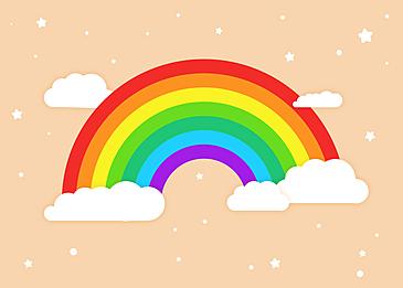 rainbow clouds background cute stars