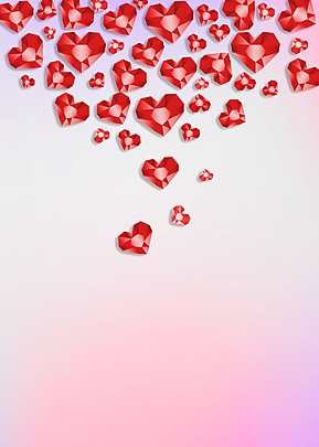 red love diamond background