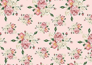 seamless vintage pink flower background