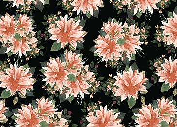 seamless vintage pink flower cluster flower background