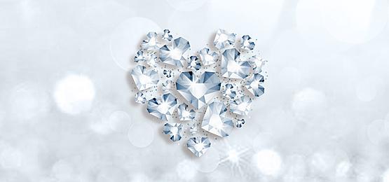 silver fantasy love diamond background
