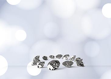 silver halo diamond background