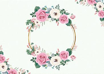 textured metal border floral background