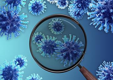 blue gradient new coronavirus zoom background