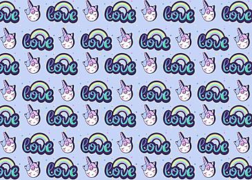 cute unicorn picture rainbow love background