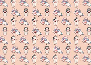 cute unicorn pillow stars background