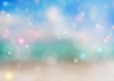 cyan abstract summer polka dot light effect background
