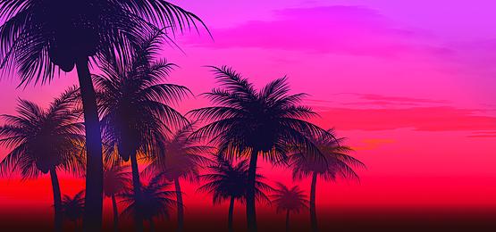 fuchsia gradient summer abstract silhouette