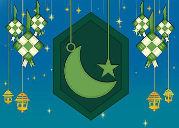 geometric eid mubarak ramadan background