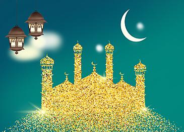 gold eid mubarak ramadan background
