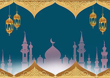 golden simple eid mubarak ramadan background