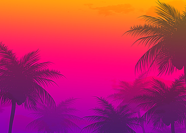 gradient color sky summer abstract silhouette