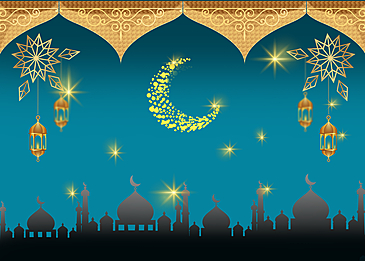 islamic moon eid mubarak ramadan background