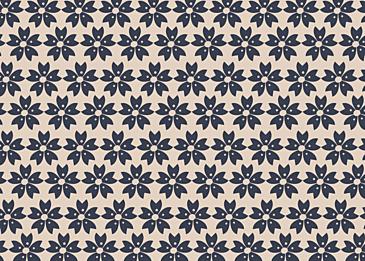 japanese vintage flowers blue texture