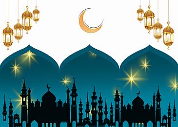 large mosque eid mubarak ramadan background