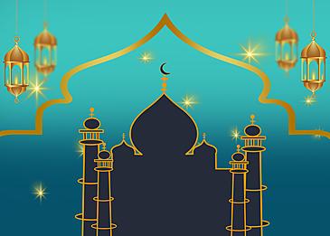 light gradient eid mubarak ramadan background