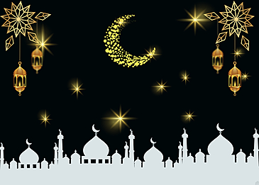 night eid mubarak ramadan background