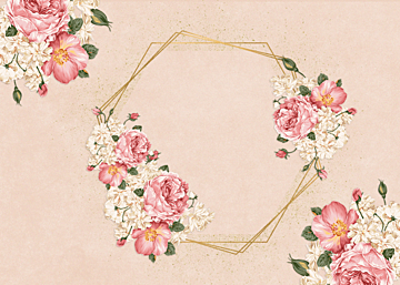 pink business style flower border background