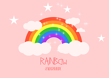 pink rainbow clouds background