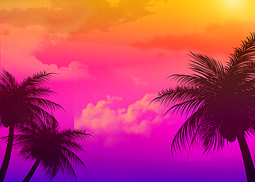 purple gradient summer abstract silhouette