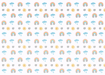 rainbow clouds cute tile background