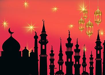 red gradient eid mubarak ramadan background