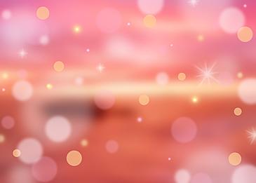 red summer polka dot light effect background