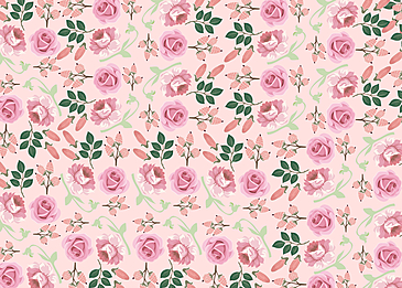 seamless retro flowers and leaves floral background