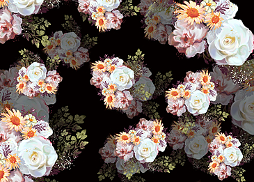 seamless vintage white flower background