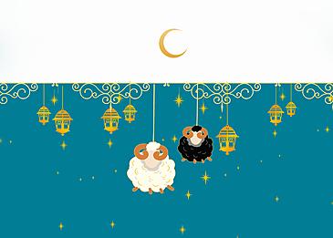 simple blue eid mubarak ramadan background