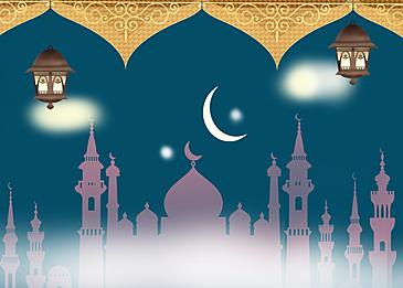 simple golden eid mubarak ramadan background