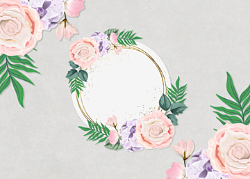 simple watercolor style flower border background
