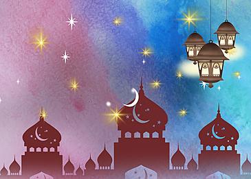 starry eid mubarak ramadan background