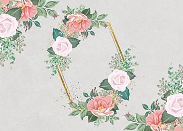 vintage style flower border background