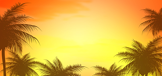 yellow sunset summer abstract silhouette