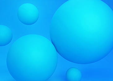 3d stereo ball blue background