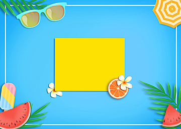 3d summer colorful promotion background