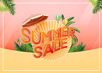 3d tropical summer scene promotion background