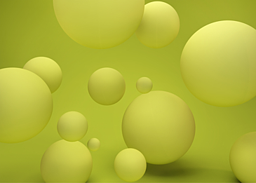 3d yellow green three dimensional ball background