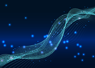 abstract technology blue light effect particle background