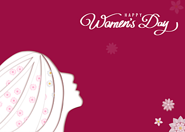 beautiful and simple international womens day poster