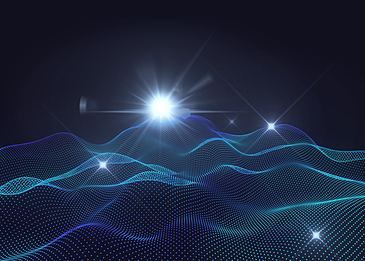 blue abstract light particle background