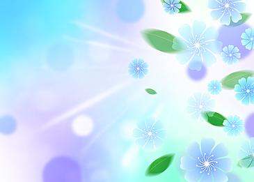 blue flowers spring background