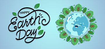 blue gradient example illustration earth day background