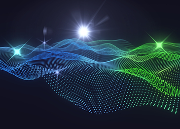 blue green abstract light particle background
