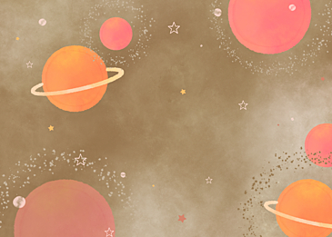 brown pink gradient watercolor planet background