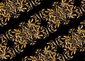 business style golden european print seamless background