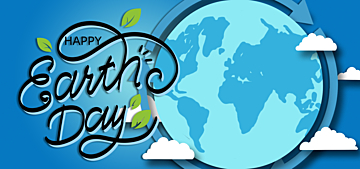 cartoon blue illustration earth day background